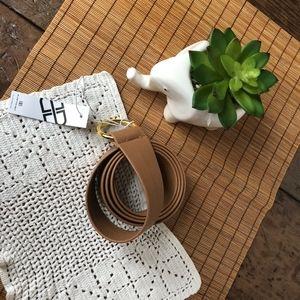 B-Low the Belt Vegan Leather Tan Mia Belt
